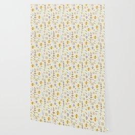 Weird Unusual Pattern On Beige Wallpaper