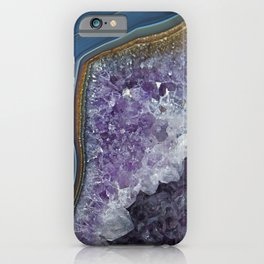Amethyst Geode Agate iPhone Case