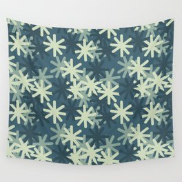Mod Snowflakes Wall Tapestry