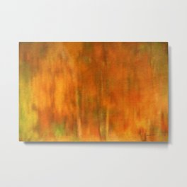 Abstract of Autumn Metal Print