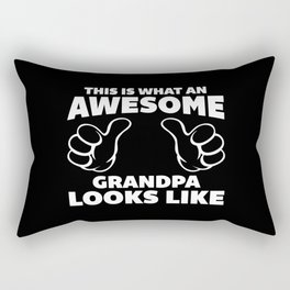 Awesome Grandpa Looks Like Quote Rectangular Pillow