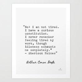 Sir Arthur Conan Doyle quote 5 Art Print