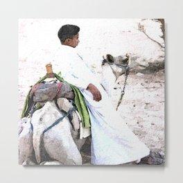 Bedouin Boy in watercolour Metal Print