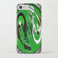 ying yang iPhone & iPod Cases featuring ying yang by Nerd Artist DM