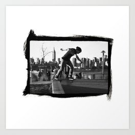 Brooklyn Back Tail Art Print