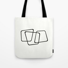 Simply Minimal - Black and white abstract Tote Bag
