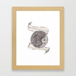 The Secret Moon  Framed Art Print