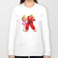 barbie Long Sleeve T-shirts featuring Barbie & Ken. by Sam Pea