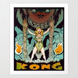 Kong loves Cheesecake Art Print