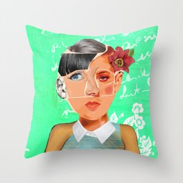 Many in One (Faces #1) Throw Pillow
