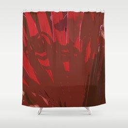 Deep Red Shower Curtain