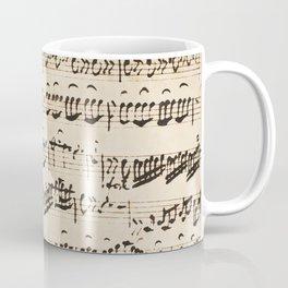 Johann Sebastian Bach (1685 – 1750) original music sheet Coffee Mug