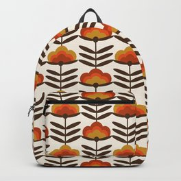 Boogie - retro florals minimal trendy 70s style throwback flower pattern Backpack