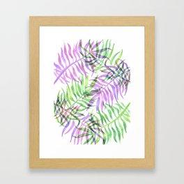 Watercolour Palm Print Framed Art Print
