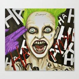 The Joker Suicide Squad Canvas Print