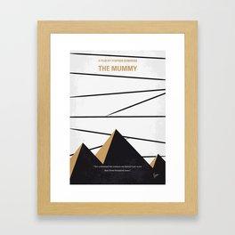 No642 My The Mummy minimal movie poster Framed Art Print