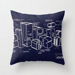 Blueprint Throw Pillow