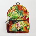 My tropical Summer Hibiscus and Fruits Garden- Jungle Pattern on #Society6 by originalaufnahme