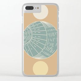Bohemian Moon - Mid Century Modern Circles Clear iPhone Case