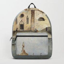 Francesco Guardi - Vue de l'île de Santa Maria delle Grazie Backpack