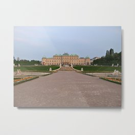 Distant View Of Belvedere Palace In Vienna Metal Print