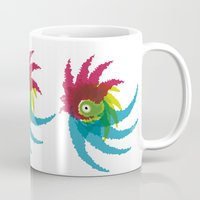 parrot Mugs featuring PARROT by Atahan Atalay