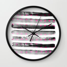 abstract watercolor dots Wall Clock