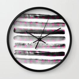 abstract watercolor dots Wall Clock