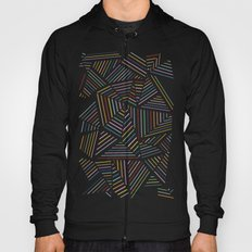 Ab Linear Rainbow Black Hoody