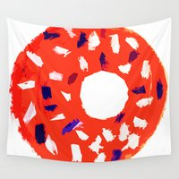 doughnut Wall Tapestries featuring Doughnut by Myles Hunt