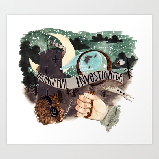 He is a paranormal investigator Art Print