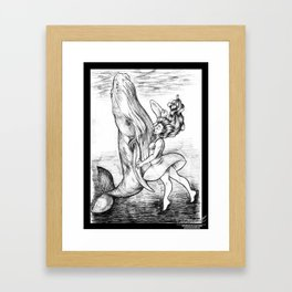 Dancing with Whales Framed Art Print