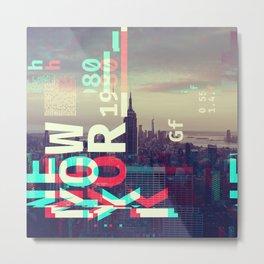 GLITCH CITY #80: New York Metal Print