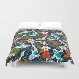 Koi Pond - Orange Duvet Cover