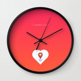 U are here Wall Clock