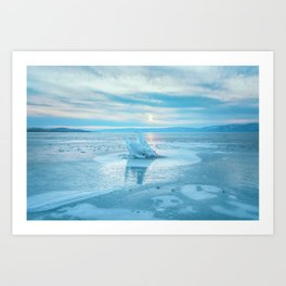The Strange Ice Circle of Baikal Art Print