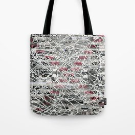 A Virtual Two By Four (P/D3 Glitch Collage Studies) Tote Bag