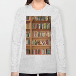 Bookshelf Books Library Bookworm Reading Long Sleeve T-shirt
