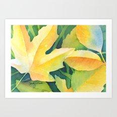 Bright leaf study Art Print