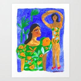 Dancing in Blue Skies Art Print