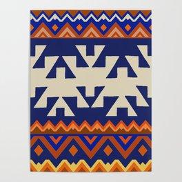 Aztec Folk Art Poster