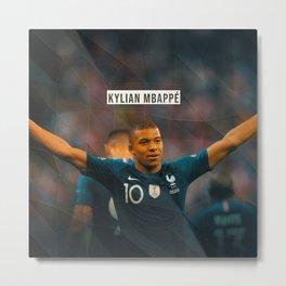Kylian Mbappe Metal Print