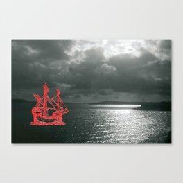Embroidered Sea Vision Canvas Print