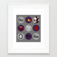 regina mills Framed Art Prints featuring Once Upon A Time, Regina Mills by Your Friend Elle