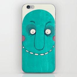 Blue Cupface iPhone Skin