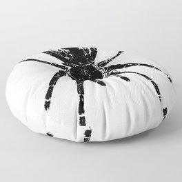 Scary Tarantula Spider Halloween Black Arachnid Floor Pillow