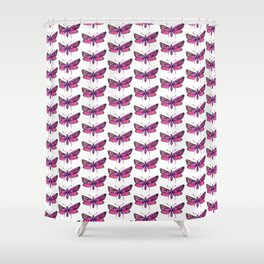 pink butterflies pattern Shower Curtain