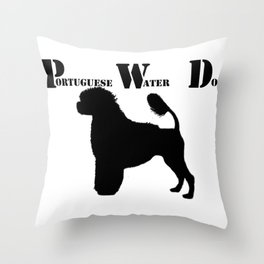 Portuguese Water Dog PWD Lion Cut Throw Pillow