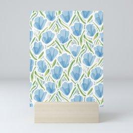 Sanguine Sway Light Blue Mini Art Print