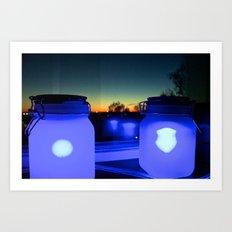 Blue Friends Art Print